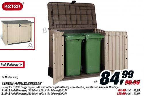 Keter Mülltonnen-/Gartenbox - Woodland 30 - billigst bei Toom