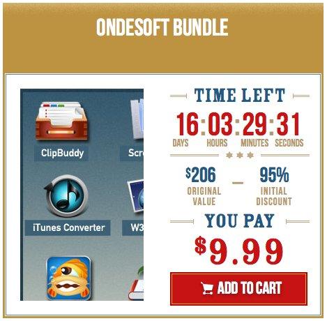 (MAC) Wieder erhältlich: Ondesoft Mac Bundle von Tickitwickit mit 9 Apps für 7,55€