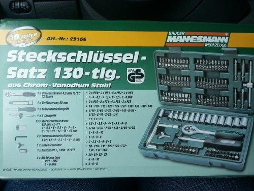 Steckschlüsselsatz 130 teilig Mannesmann 14.99 Euro Bundesweit