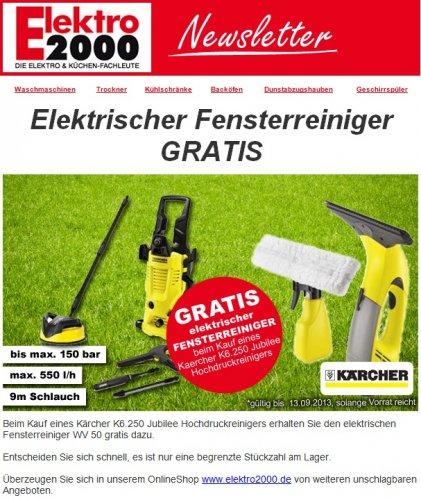 [Elektro2000] Gratis Kärcher Fensterreiniger beim Kauf eines Hochdruckreinigers