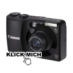Canon PowerShot A1200 Digitalkamera 12.1 Megapixel + 10,00 € Zalando Gutschein für 79,99 €
