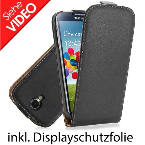 Galaxy S4 Ledertasche in schwarz inkl. Schutzfolie - ca 45% Reduziert durch Preisvorschlag