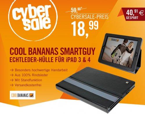 Cool Bananas SmartGuy Echtleder Hülle für iPad 3/4 schwarz mit Standfunktion