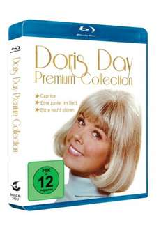 Doris Day Premium Collection mit Prägedruck - 3 Filme auf 3 Blu ray [Blu-ray] für 10,45 € @ Amazon.de