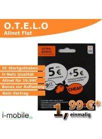 otelo Prepaid-Karte mit 5€ Guthaben Gratis für facebook-like