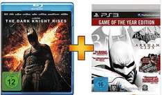 Batman Arkham (GOTY) + Batman The Dark Knight Rises (Blu-ray) für 18€ @Saturn