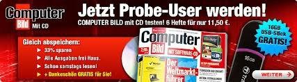 computer-bild-mit-cd-probeabo Max 8 Ausgaben für nur 1,50 mit Bestchoice Gutschein