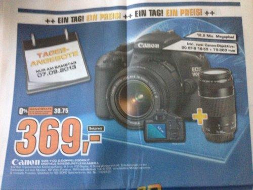 Canon EOS 1100 D inkl. 2 objektiven @Saturn am 07.09.