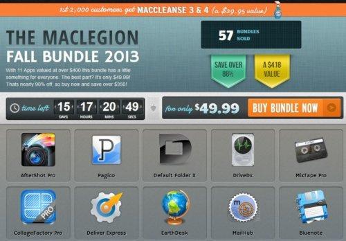 Das MacLegion Fall Bundle mit 11 Apps für 37,92 €