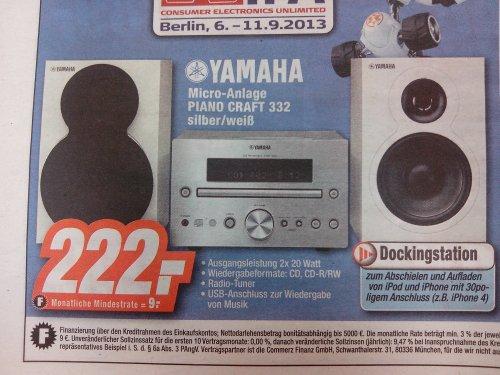 [Lokal - Hannover Langenhagen] Yamaha Pianocraft 332 Silber/Weiß bei Expert für 222€