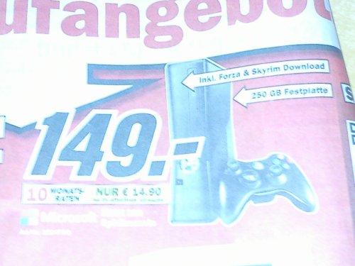 XBOX 360 250GB inkl. Forza und Skyrim - MM Alzey, Bischofsheim, Mainz