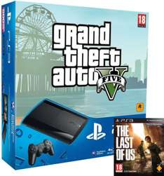 Sony PS3 500 GB + The Last of Us + GTA V für 237 €