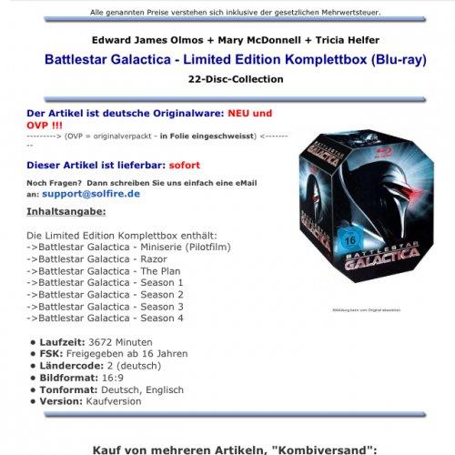 Battlestar Galactica Bluraybox
