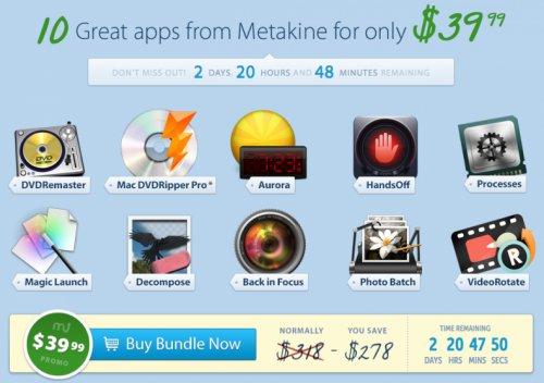Das MacUpdate Metakine Bundle mit 10 Apps für 30,44€
