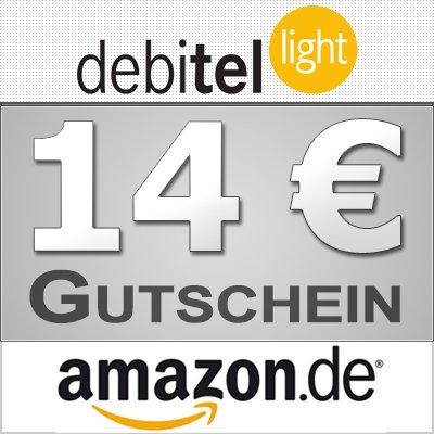 Leicht erhöht! Debitel Light mit 10 EUR Startguthaben und 14 EUR Amazon.