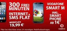 Vodafone original Smart M 300 FreiMin. + SMS Flat + Datenflat montl. 19,99.