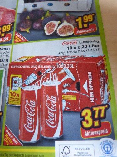 [Netto Marken Discount] 10 x 0,33 Liter Coca Cola (Dose) am 14.09.2013 nur 3,77€ (zzgl Pfand)