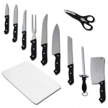 11 tlg. Messerset mit Schneidebrett fcür 11,80 inkl. Versand