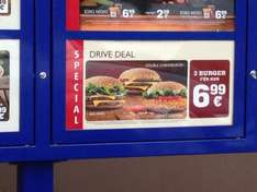 [Burger King Lengerich] Drivedeal - 3 Burger für 6,99