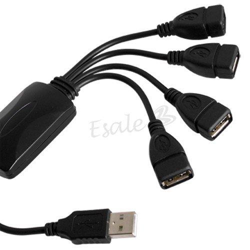 mini 4 Fach USB 2.0 HUB Verteiler für PC Laptop Flexibel (:..1,50€@buyincoins dank ThinkSmart..:)