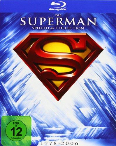 Superman - Die Spielfilm Collection 1978-2006 für nur 27,19 EUR inkl. Versand [5 Blu-Ray]