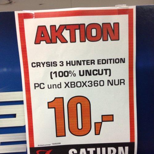 Crysis 3 Hunter Edition für PC oder Xbox 360 (Lokal Gelsenkirchen)