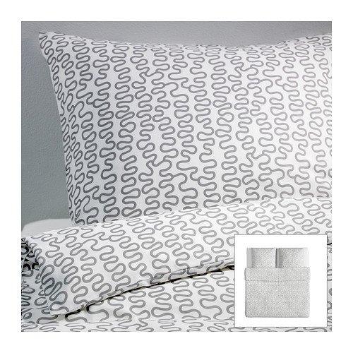 KRÅKRIS Bettwäscheset, 2-teilig, grau/weiß155*220 und 80*80 - 4,99 - [IKEA online ] evtl auch lokal !?