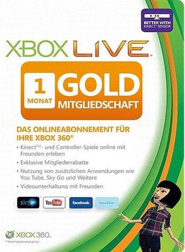 Xbox Live Gold 1 Monat  Mitgliedschaft für nur 3,99 EUR