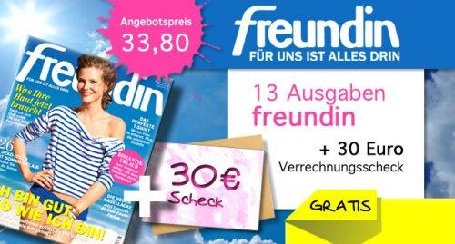 """Halbjahresabonnement: """"Freundin"""" für effektiv 3,80€"""
