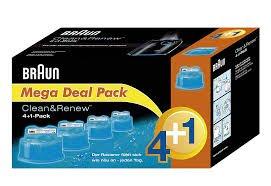 4+1 Pack Braun Clean&Renew Reinigungskartuschen
