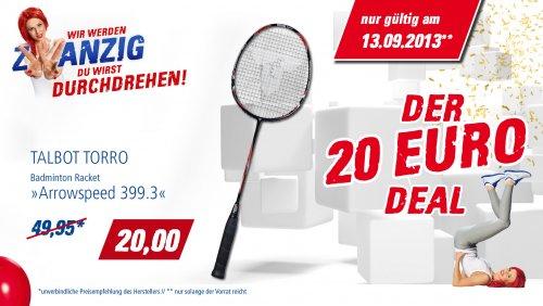 """Badmintonschläger """"Arrowspeed 399.3"""" von TALBOT TORRO reduziert auf 20 € (UVP 49,95 €))"""