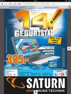 SATURN HAMBURG : Acer Notebook E1-571-53234G75MNKS