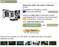 Metal Gear Solid: Legacy Coll. [alle MGS Titel] (PS3 EU Version) bei Play-Asia für  ~ max. 15,50€