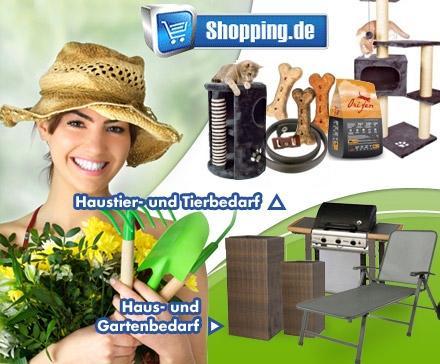 DD Speeddeal bis 15 Uhr: 15 statt 30 Euro auf Garten-Sortiment, Tierfutter, Katzenstreu usw. bei shopping.de