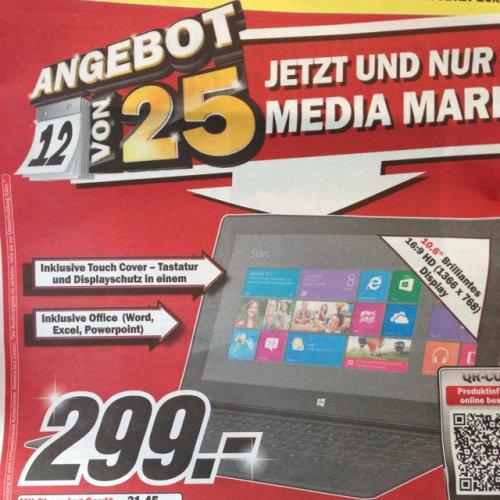 [Schweiz] MS Surface 32 GB mit Touchcover bei MM für 241 euro