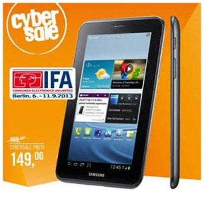 Ausverkauft!!! CyberSale  Samsung Galaxy Tab 2 7.0 P3100 3G + WiFi 8GB titanium-silber