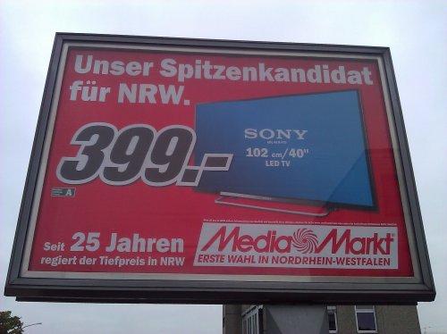 (Lokal NRW ?) - Media Markt - SONY KDL 40 R 470