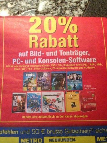 Metro (lokal Nürnberg?)  20% Prozent  auf  Spiele und mehr