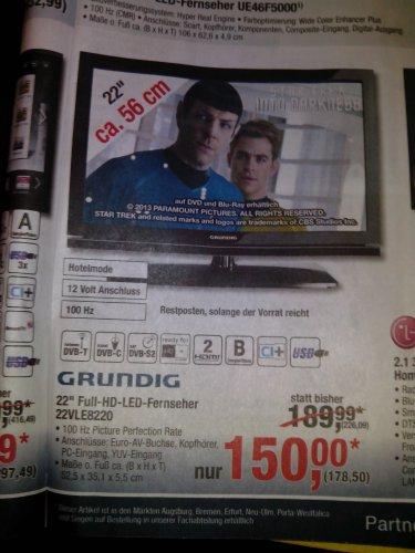 [METRO] Grundig 22 VLE 8220 BG - 22 Zoll Full HD TV mit Triple Tuner