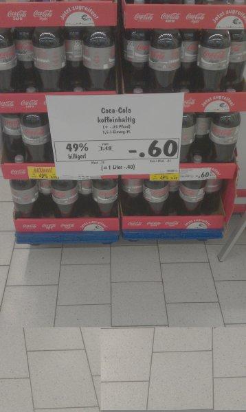 [Friedrichshafen Bodenseecenter] KAUFLAND - Coca Cola light 1,5liter nur 0,60€