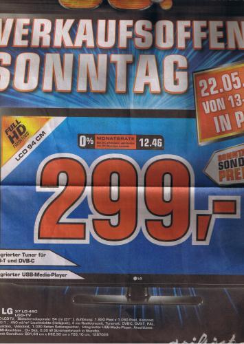 [LOKAL] Saturn Köln Porz LCD LG 37 LD 450 Full HD