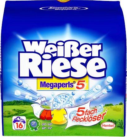 1,22 € Weißer Riese Megaperls oder Kraftgel durch Werbung-Aktion und 4,00 € Coupon ab 4 Stck.