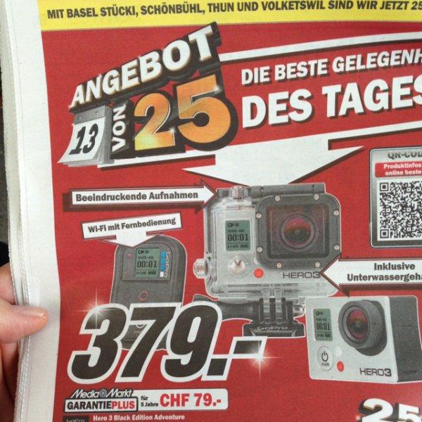 [Schweiz] GoPro HERO3 Black Edition Adventure im MM für 306 euro
