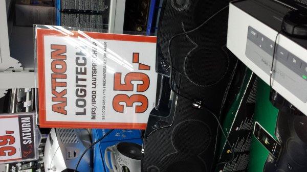 [Lokal]LOGITECH S715i schwarz-  Lautsprecher mit Akku - Mit ALTEM iPod/Phone Dock und 3,5mm Klinke Eingang