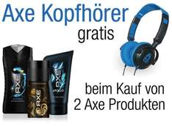 [Amazon] 2 Axe-Produkte kaufen (ab 9,- EUR) - Axe Kopfhörer gratis ab