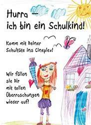 Cineplex Einschulungsaktion 12-28. Sept.2013 - Gratis Schultüten auffüllung ...