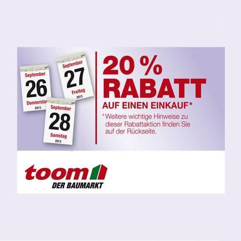 In der LAVIVA Oktober 2013 20% vom 26. bis 28. September TOOM Baumarkt
