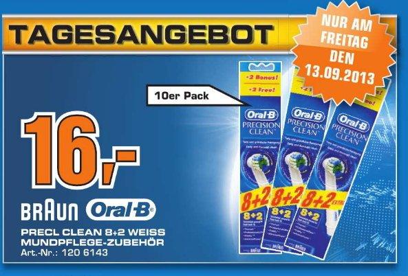 [ LOKAL Saturn Stuttgart ] Braun Oral-B Aufsteckbürsten Precision Clean 10er Pack ( 8+2)   16€