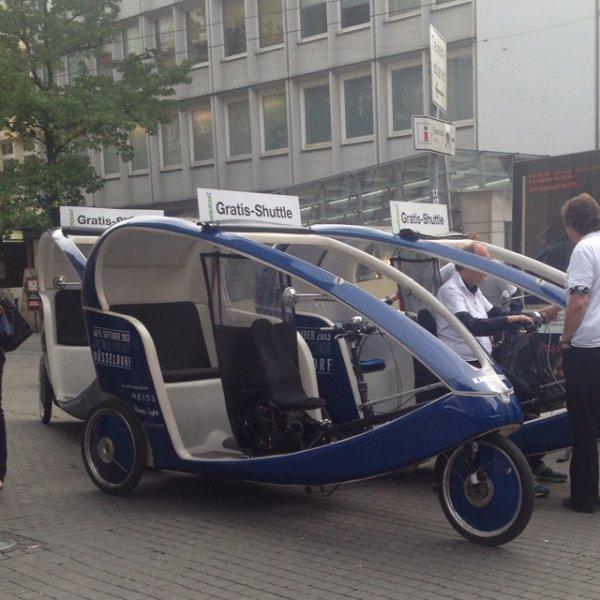 [Lokal Düsseldorf] Gratis Shuttle Rikschas durch die Stadt