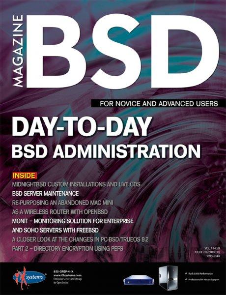 Free BSD (Unix) Magazine Sept 2013 (Englisch)